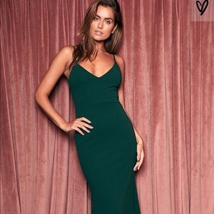 Lulu's Infinate Glory Forrest Green Maxi Dress